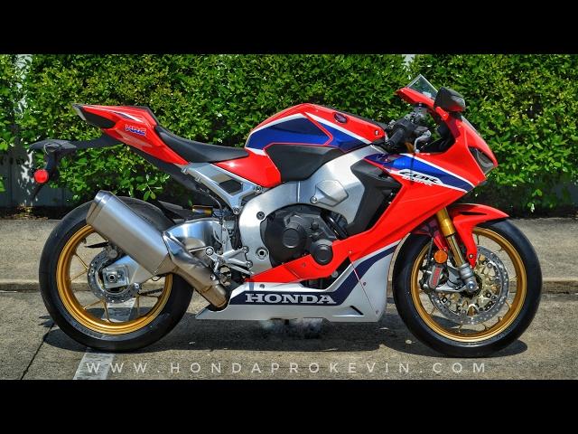 2017 Honda CBR1000RR SP Review of Specs + Start-Up | CBR Sport Bike / Motorcycle Walk-Around | HRC