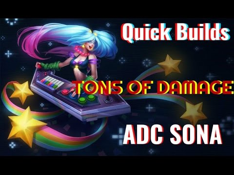 Quick Builds Adc Sona Build Guide 1350 Riot Points Giveaway Youtube