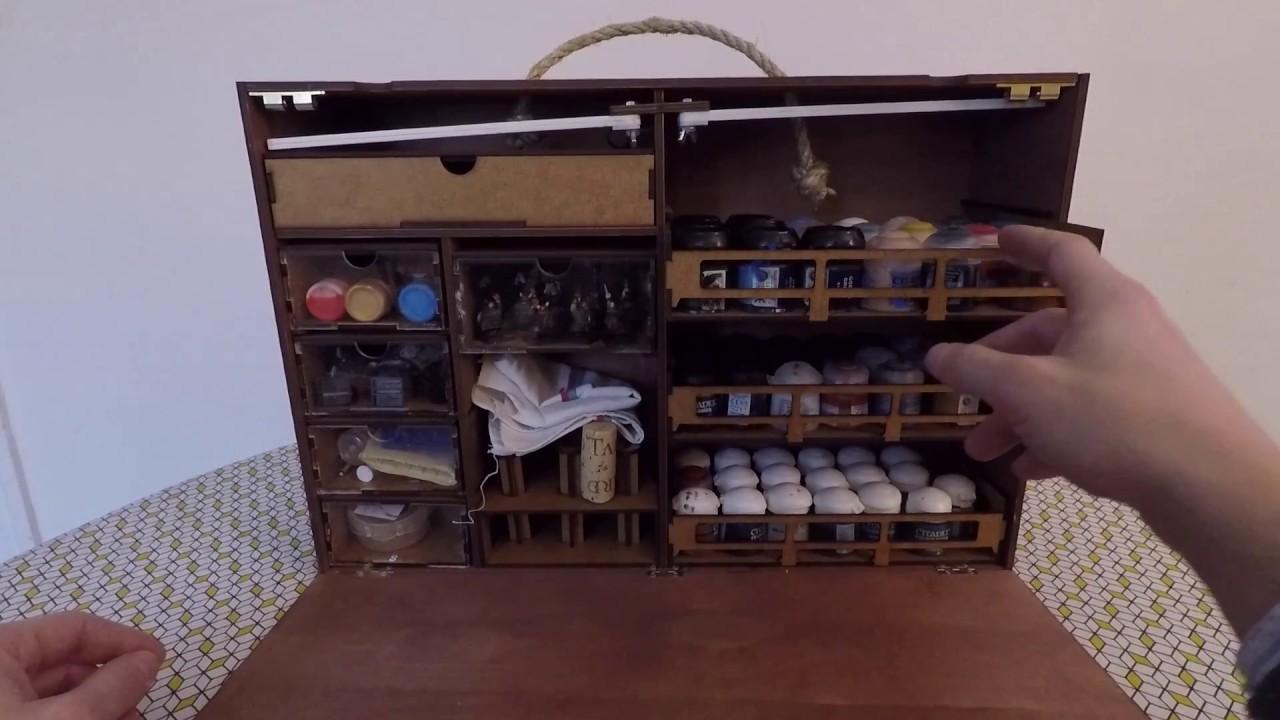 hobby frontier wargaming paint case la station de. Black Bedroom Furniture Sets. Home Design Ideas