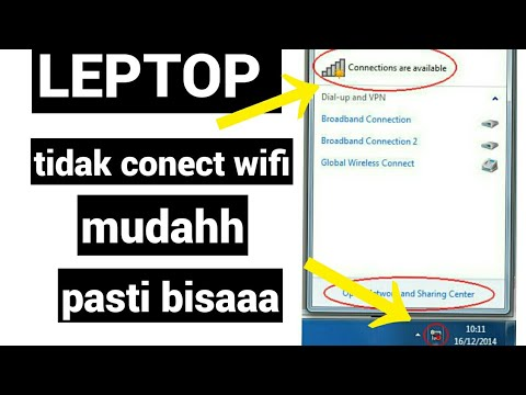 Cara Mengatasi Wifi Silang Merah Dan Network Connection Merah di laptop Komputer Windows 7/8/10.