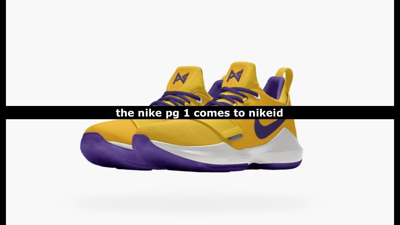 sports shoes 3434b 8da20 low cost nike pg 1 lakers purple 85e1a edfaa