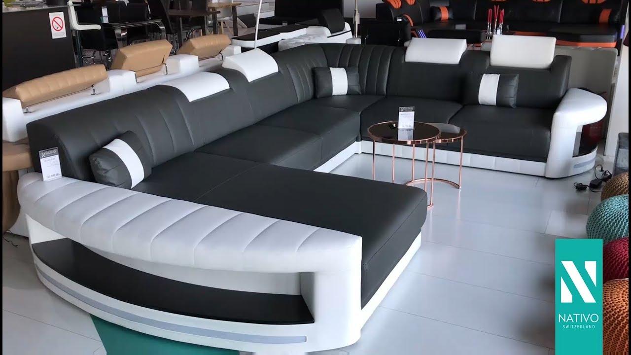 NATIVO Möbel Deutschland   Designer Sofa ATLANTIS XXL Mit LED Beleuchtung