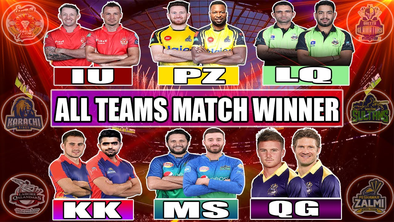 PSL 2020 : All teams Match Winners Players Of PSL 5 || All teams Best Players In PSL  | PSL 2020