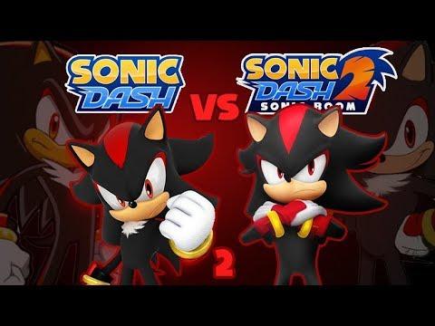 Sonic Dash Vs Sonic Dash 2 Sonic Boom: Shadow Round 2 [60fps]