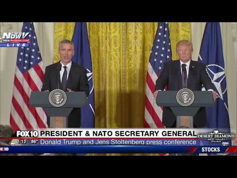 WATCH: President Trump and NATO Secretary General Hold Press Conference at White House (FNN)