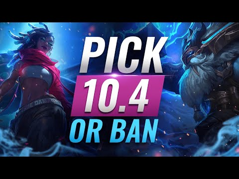 OP Pick Or Ban: BEST BUILDS For EVERY Role - League Of Legends Patch 10.4