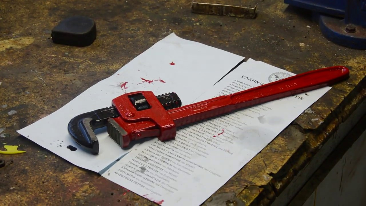 Αναπαλαίωση κάβουρα GEDORE pipe wrench restoration