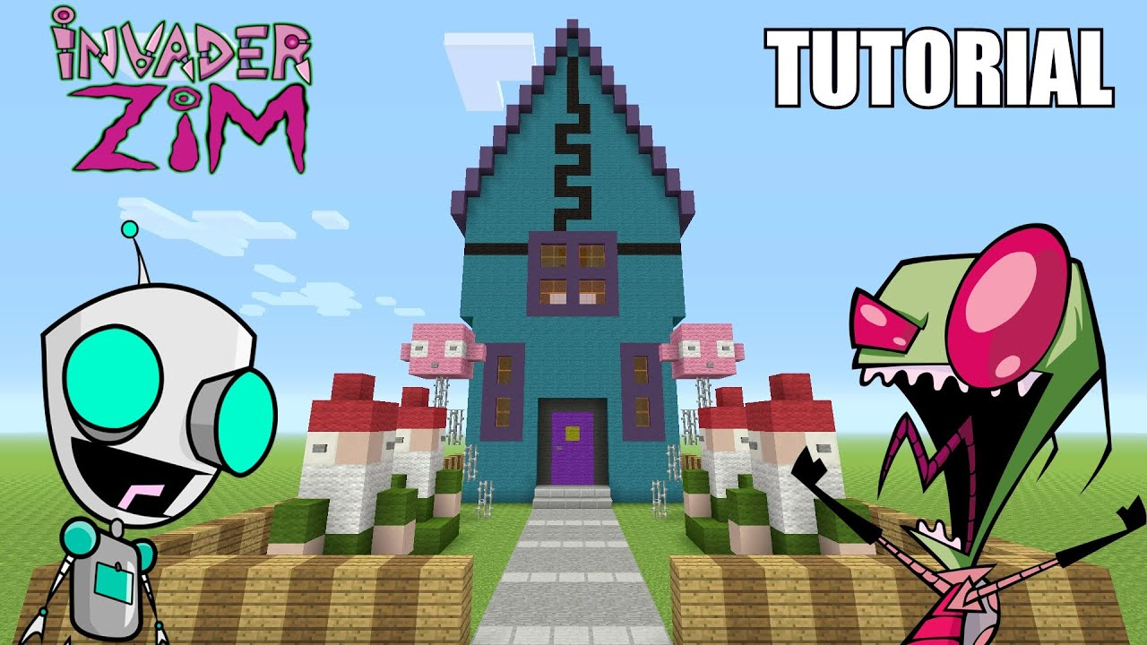 Minecraft Tutorial How To Make Quot Invader Zim S House