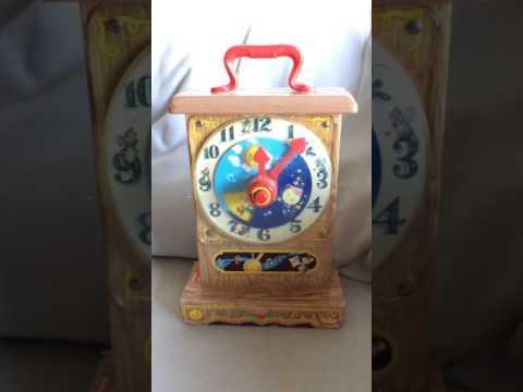 Antique (c. 1965) Fisher-Price Music Box Tick-Tock Clock #997