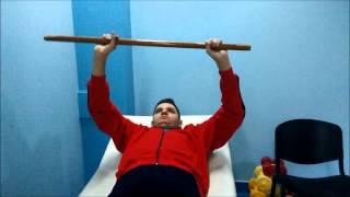 Exercitii cu bastonul tetrapareza spastica