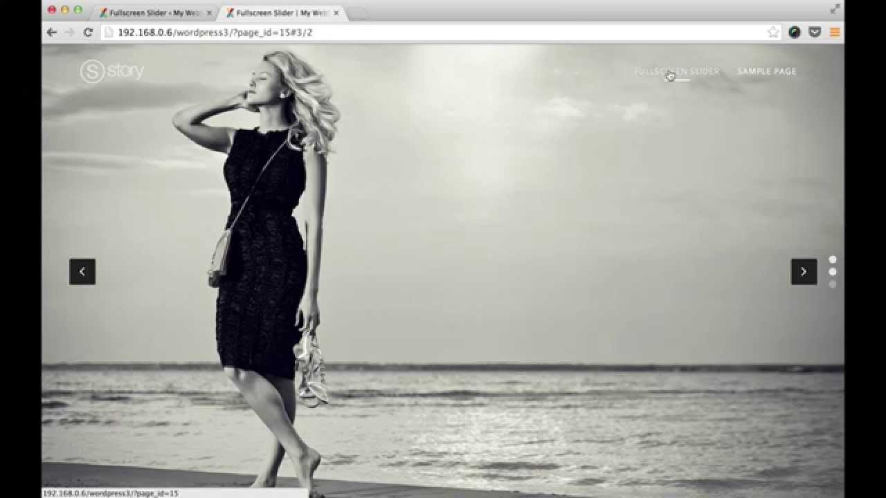 Story Theme: Creating a Fullscreen Slider Page with Story WordPress ...