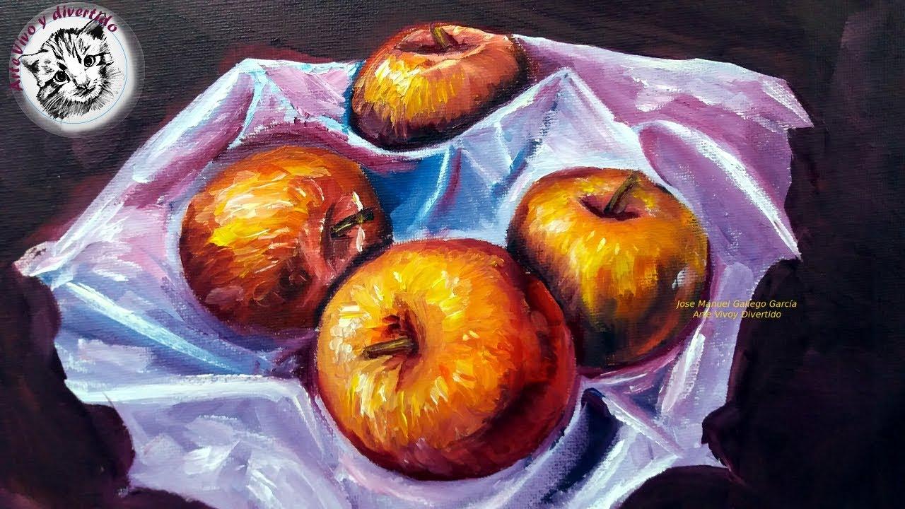 Pintura Al Oleo Paso A Paso Como Pintar Manzanas Realistas Al Oleo 2 2 Youtube