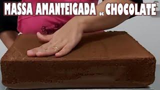Massa Amanteigada de Chocolate para Bolos de 5 Quilos