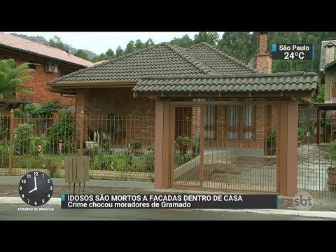 Casal de idosos é encontrado morto dentro da própria casa em Gramado | SBT Brasil (25/11/17)