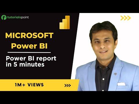 Mastering Microsoft Power BI - Create Power BI Report in 5 mins