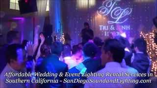 Wedding Gobo Lighting Demo, LED Gobo Projector & Custom Monogram, Gobo Light, Lighting Rental