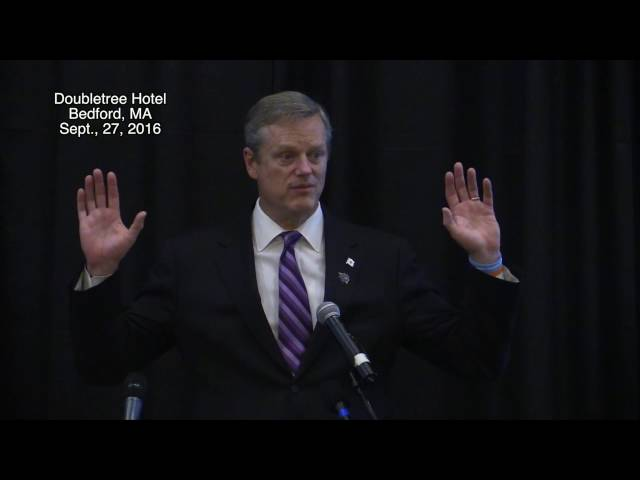 Rotary Club forum on addiction with Governor Baker, September 27, 2016