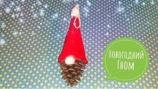 Новогодний Гном Своими Руками!Поделки из шишек!
