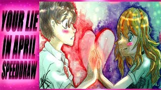 Top OTP In Anime! ◉ Kaori and Kousei Your Lie in April Speedpaint