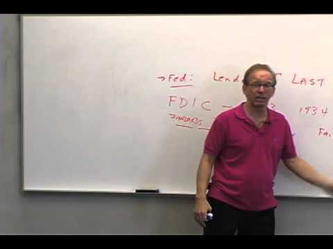 Money and Banking: Lecture 32 - Regulation of Banks 1
