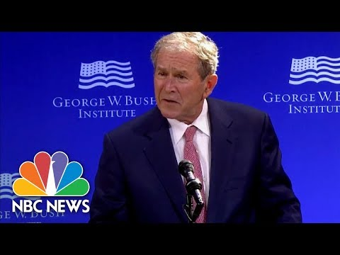 George W. Bush Slams Russia For Attempts To 'Exploit Our Country's Divisions' | NBC News