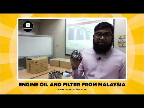 ENGINE OIL AND FILTER FROM MALAYSIA