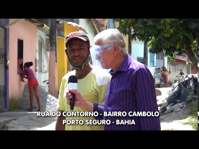 Rua desaparecendo no Bairro Cambolo - Porto Seguro - Bahia. Cadê a prefeitura?