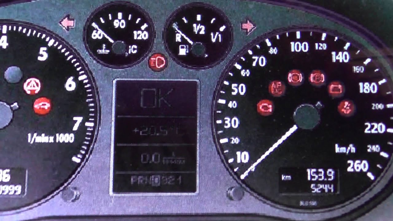 Audi A3 8p Dashboard Warning Lights  Symbols Diagnostic Reset