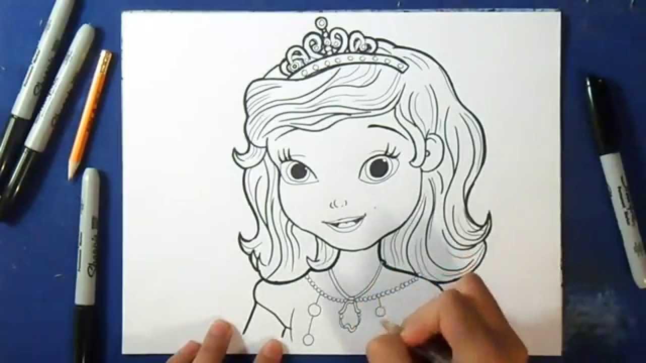 coloriage disney princesse facile youtube. Black Bedroom Furniture Sets. Home Design Ideas