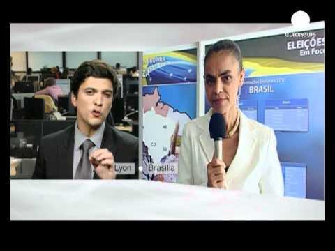 Brazil's Green campaigner Marina Silva talks to euronews