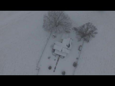 Winter Storm Jonas in Western NOVA 1/22/2016 - Drone footage #2