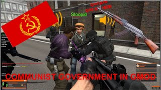 Creating a Communist Goverment in Gmod at 2am