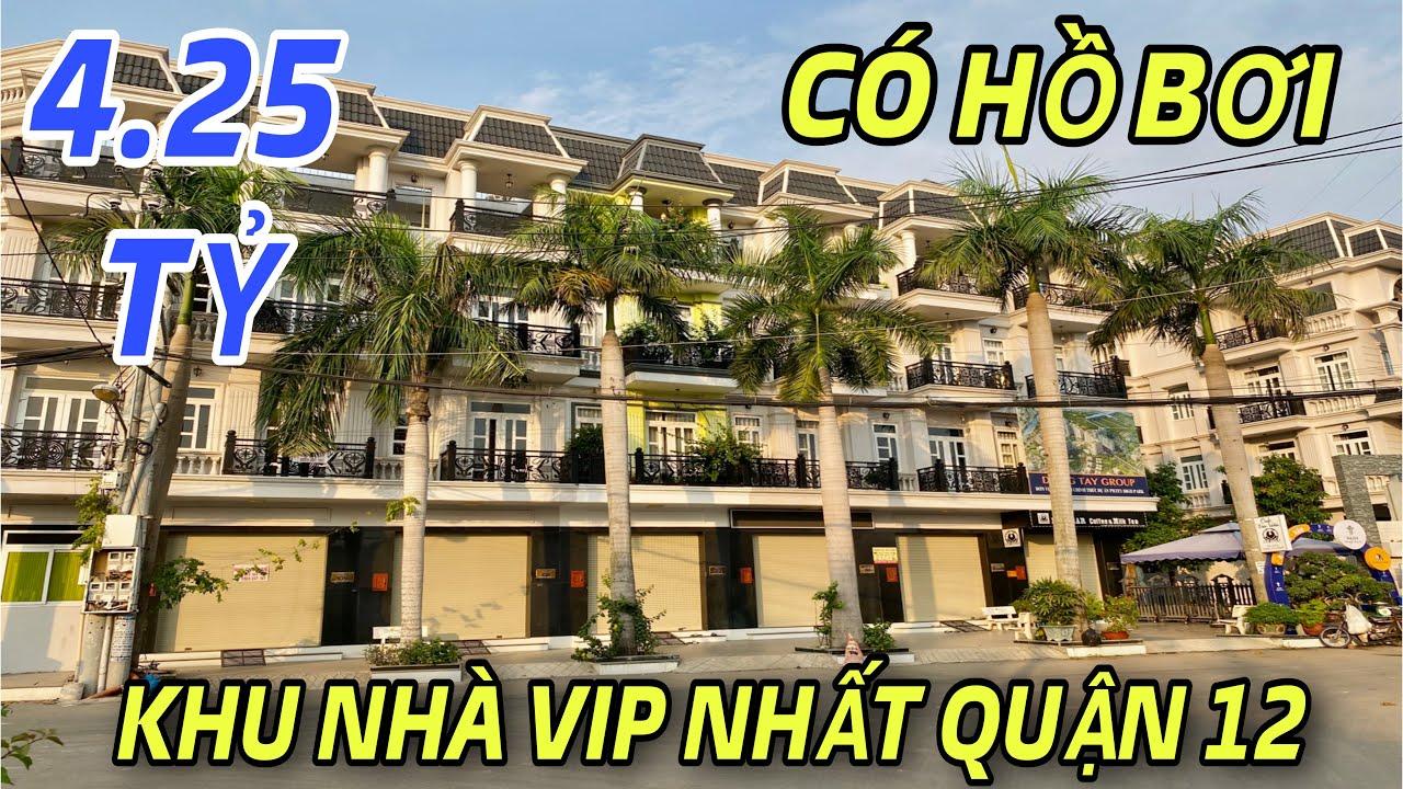 Bán nhà quận 12 số 75  Chiêm ngưỡng khu nhà đồng bộ 150 căn VIP nhất quận 12 tại đường Tô Ngọc Vân