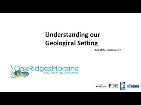 July 2020 session 2 of 4: Understanding our Geological Setting