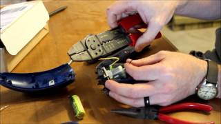 how to change the rechargeable batteries in an electric shaver