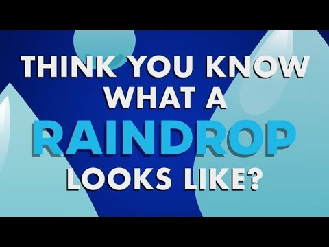 The Shape of a Raindrop