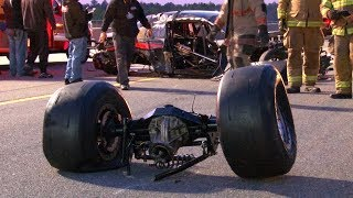 Twin Turbo Mustang Loses Rear End at OVER 200MPH!