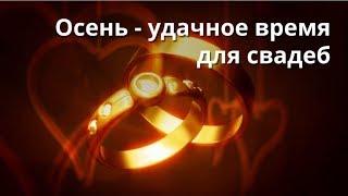 свадьбы осенью