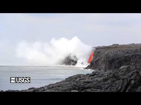 "Hawaii Volcano Lava Flow ""Firehose"""