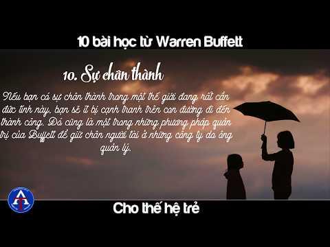BÀI HỌC CUỘC SỐNG] - 10 Lời Khuyên Từ Warren Buffett Dành Cho Bạn Trẻ