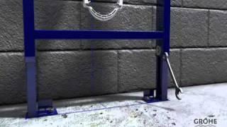 Grohe Rapid SL installatievideo. Een inbouwtoilet installatie van Grohe