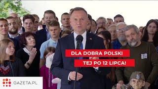 Andrzej Duda apeluje m.in. do PSL i Konfederacji o współpracę