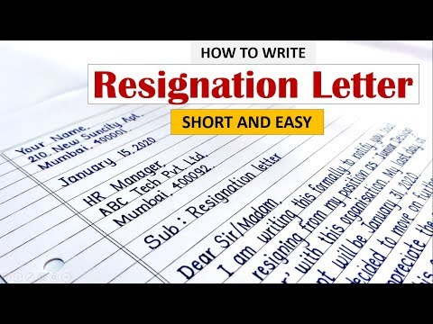 How To Write Resignation Letter   Learn To Write Resignation Letter In English