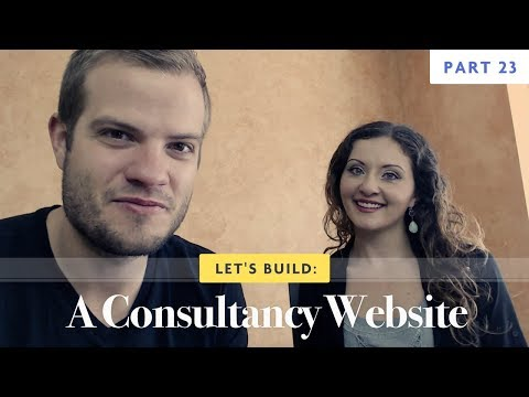 Let's Build: A Consultancy Website - Part 23 - Coding the Footer
