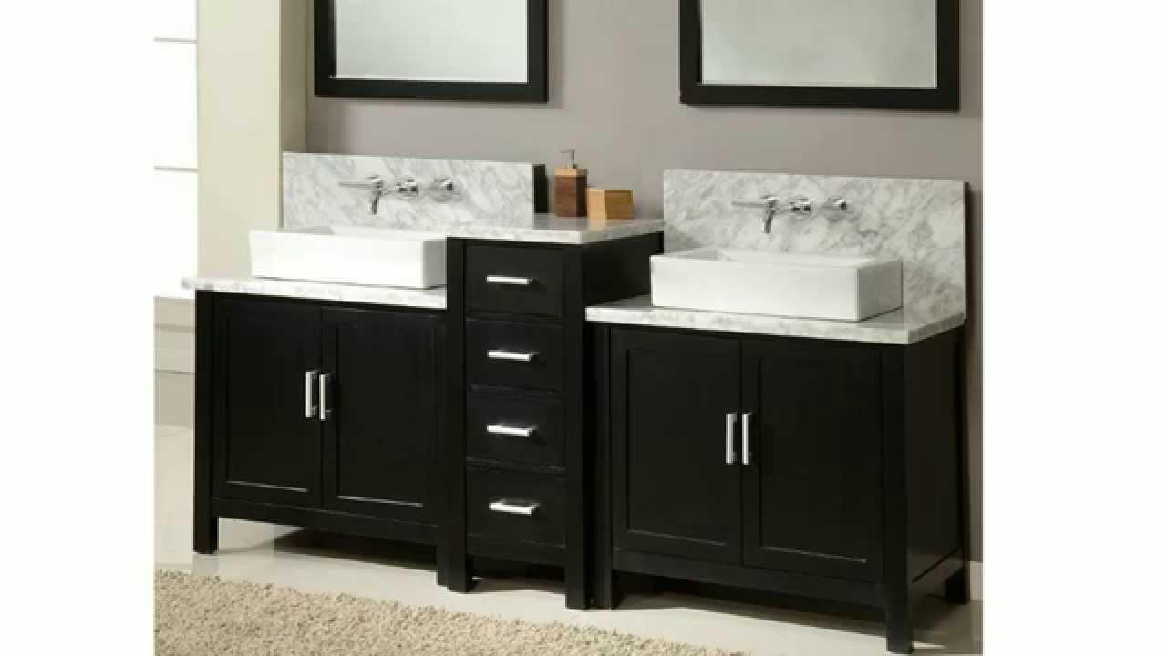 Bathroom Vanities Built For Wall Mounted Faucets  HomeThangscom  YouTube