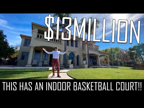 CRAZY $13MILLION MANSION WITH AN INDOOR BASKETBALL COURT!!