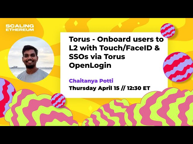 Torus 🛠  Onboard users to L2 with Touch/FaceID & SSOs via Torus