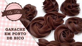 Como fazer Ganache em ponto de bico | Ganache de Chocolate