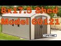 Lifetime 60121 8 x 17.5 ft Outdoor Storage Shed (2 windows)