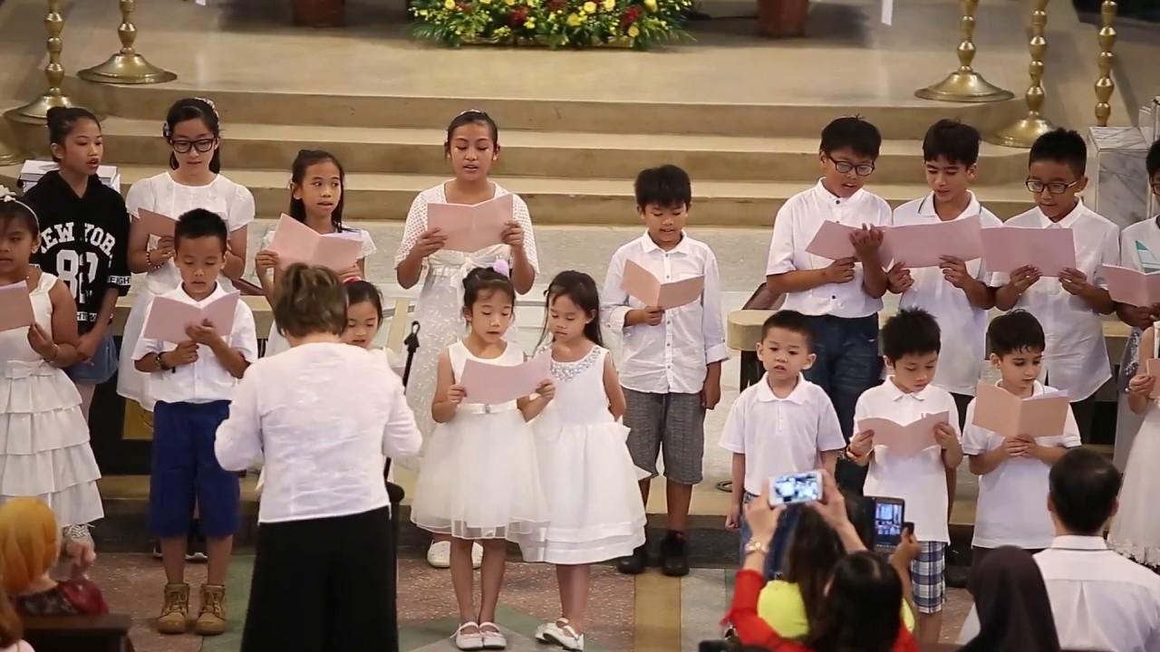 20180609新竹聖母聖心主教座堂60週年-北大教堂主日學合唱團 - YouTube